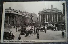 POST CARD  / REAL PHOTO LONDON BANK OF ENGLAND AND ROYAL EXCHANGE