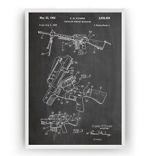 AR-15 Rifle Patent Print - Military Gun Poster Wall Art Decor Gift - Unframed