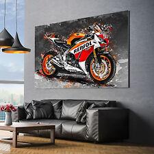 LEINWAND BILDER Honda CBR 1000 RR Repsol Motorrad Wand bilder Kunstdruck Canvas