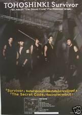 "TOHOSHINKI ""SURVIVOR"" THAILAND PROMO POSTER-TVXQ, K-POP"