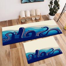 Underwater Background Octopus Tentacles Area Rugs Bedroom Living Room Floor Mat