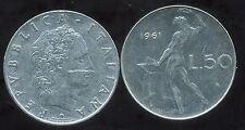 ITALIE    ITALY   50 lire 1961  ( bis )