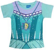 Disney Frozen Elsa Fancy Dress up Costume T-Shirt - Official - 100% Cotton