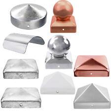 Pfostenkappen mit Kugel, flach, rund, Edelstahl Stahl Kupfer Aluminiumguss GAH
