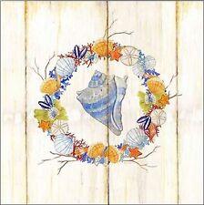 Mary Escobedo:Coastal wreath and shell III Keilrahmen-Bild Leinwand maritim Deko