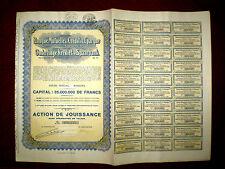 Banque Mutuelle de Crédit et d´Épargne, dividend share certiticate 1932