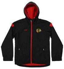 Reebok NHL Hockey Boys Youth Chicago Blackhawks Shockwave Jacket, Black