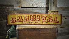 Carnival, Custom Beach Boardwalk - Rustic Distressed Wood Sign ENS1001342A