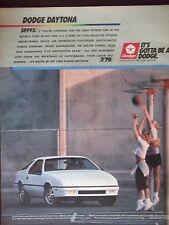 1988 Dodge Daytona Original Advertisement