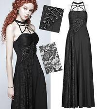 Robe longue gothique punk lolita baroque dentelle laçages collier été PunkRave