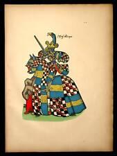 MESSIRE RENE POT Heraldique armoiries equestre