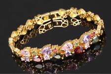 Damenarmband Zirkonia  750 Gold 18 Karat vergoldet gelbgold B2670