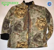 ZooFleece Wolves Winter Beige Wolf Family Animal Jacket Sweater Pet Fleece S-2X