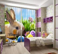 3D Hare Pilze 632 Blockade Foto Vorhang Druckvorhang Vorhänge Stoff Fenster DE