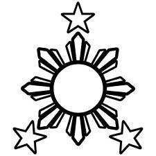 PHILIPPINES FLAG LOGO FLAG STAR PINOY PINAY CUSTOM VINYL DECAL STICKER (PH-05)