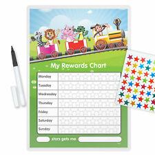 MAGNETIC BEHAVIOR Animal Train Training Reward Chart+Pen/Free Star Stickers-TRAR