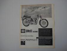 advertising Pubblicità 1969 MOTO DUCATI 350 MARK 3 D DESMO