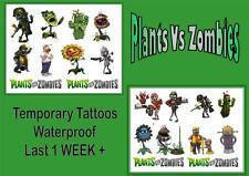 PLANTS VS ZOMBIES inspired party  temporary TATTOOS waterproof  LAST1 WEEK+