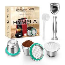 HYMELA Reusable Refillable Coffee Capsule Pod for Original Nespresso