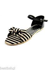 New Ladies Platini Stripe Canvas Sandals - Various Sizes