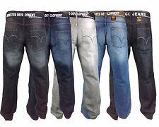 Mens AD Comfort Classic Fit Denim Jeans FREE BELT 28-50 Zip Fly Casual Pants NEW
