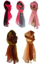 Wunderschönen 100% Seide Mode Schal Tuch Halstuch Regenbogenschal 180x70cm