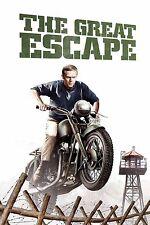 El Gran Escape Steve Mcqueen Póster de Película Retro A0-A1-A2-A3-A4-A5-A6-MAXI 329