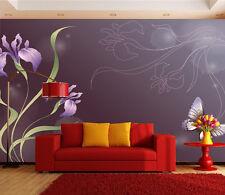 3D Deep - Purple - Raum 2 Fototapeten Wandbild Fototapete BildTapete Familie DE