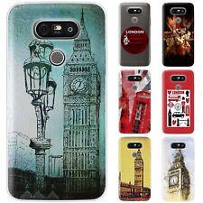 dessana London Union Jack Silikon Schutz Hülle Case Handy Tasche Cover für LG
