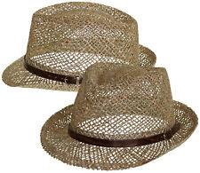 Trilby Hut aus Stroh Hut Hüte Sommerhut Trilby Trilbyhut Gartenhut