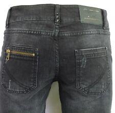 Jeans I CODE by IKKS femme slim fit denim noir gris taille haute coton stretch