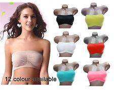 Multi-Color Women Ladies Padded Bandeau Bra Strapless Top Boob Tube Beach 8900