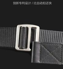 Tactical Men Titanium Alloy Buckle Nylon Belt Simple Waistband Business Belt