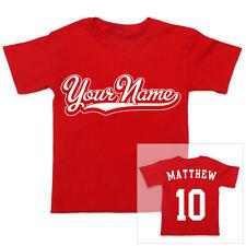 Personalizado Nombre en ambos lados Deportes Niños Niñas Camiseta