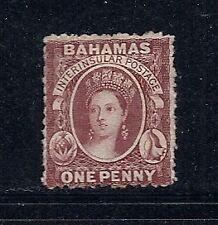 BAHAMAS 1863-77 QV (SG 20 one penny) F MH *read desc*