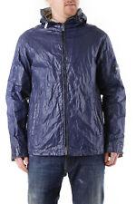 GR 71143 Azul chaquetón de hombre husky ; chaqueta made in italy: cuello alto
