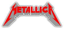 Metallica Logo Car Bumper Sticker Decal - 9'', 12'' or 14''