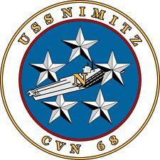 Aufkleber USS NIMITZ Biker Motorrad Auto Sticker 8cm