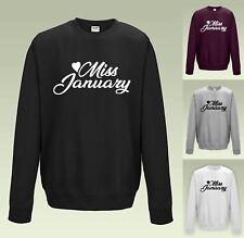 Miss January Sweatshirt JH030 Sweater Jumper Funny Cute Birthday Gift
