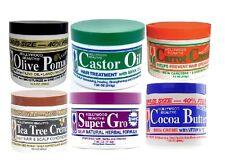 Hollywood Beauty Castor Oil Cocoa Body Creme Carrot Tea Tree Olive Hair Pomade