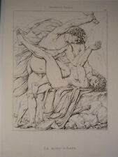 M Lionello Spada Caino Abele acquaforte originale 1868