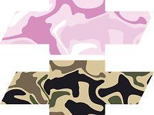 Camo Overlay Wrap Vinyl Sheets Chevy Universal Emblem Bowtie Decal