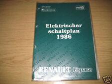 Elektrischer Schaltplan Renault Espace I. Serie
