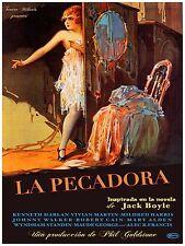 High Quality POSTER on Paper or Cotton Canvas.Pelicula silente La Pecadora.3954