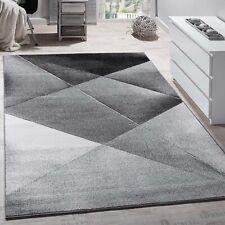 Modern Large Rug Grey Silver Black Carpet Living Room Art Design Mat Hall Runner
