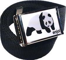 Enjoi Panda Belt Buckle Bottle Opener Adjustable Web Belt