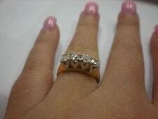 LADIES 14K 2-TONE DIAMOND 1.00CTW BAND RING, 3.8GR (XPV548-02)