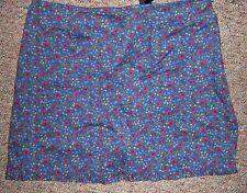 EXPRESS Violet Floral Print Short Mini Above Knee Skirt No Slits Size 9 / 10 NWT