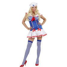 Damen Matrosenkostüm, Sexy Matrosinnen Kleid, Marine blau-weiß Matrosin Kostüm
