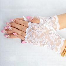 Women Sexy Fingerless Bowknot Lace Gloves Wedding Bridal Short Gloves LJ